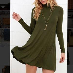 Lulu's Olive Green Swing Dress